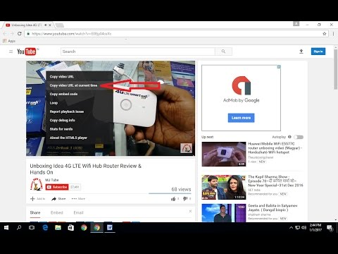 How to Copy & Share Youtube Current Video URL Certain Point