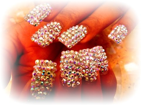 diamond nails - nail art diamantata