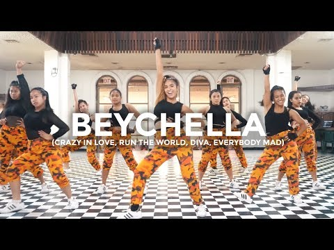 Beyoncé Remix - Crazy In Love, Run The World, Diva, Everybody Mad (Dance Video)