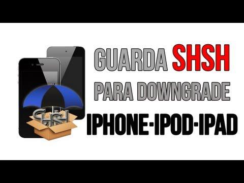 Como guardar los SHSH para downgrade de iOS iPhone, iPod, iPad (видео)