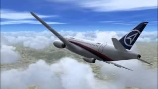 Download Video Sukhoi Superjet 100 Mount Salak crash simulation, final version MP3 3GP MP4
