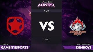 [RU] Gambit Esports vs Demolition Boys, Game 1, StarLadder ImbaTV Dota 2 Minor