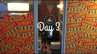 Korea Vlog Day 3 || TOMNTOMS, LAUNDRY PIZZA, DORE DORE CAFE!