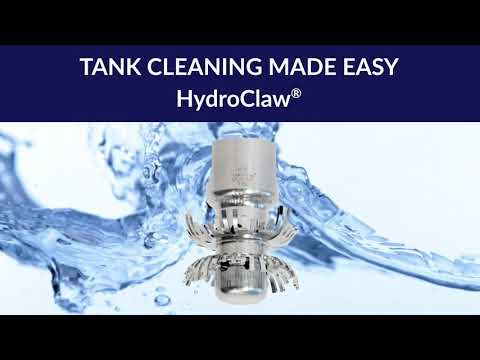 HydroClaw Clog-Resistant Tank Cleaning Nozzle