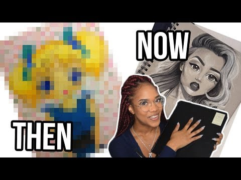 Reacting To My Old Art! | Then Vs Now