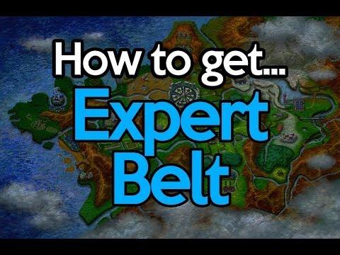 how to get expert belt in pokemon y