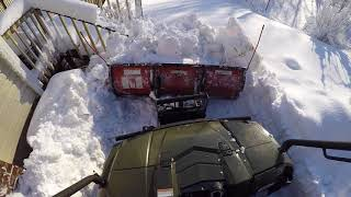 "4. Polaris Ranger with Boss plow handling 16� of snow - ""No Problem�"