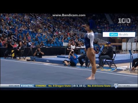 Video: Gymnast stuns crowd with nae nae