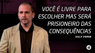 Neste vídeo Villy Fomin explica que você é livre para escolher mas será prisioneiro das consequências.Este vídeo foi gravado no dia 09/07/2017, na Betesda do Jardim Marajoara no horário da noite.