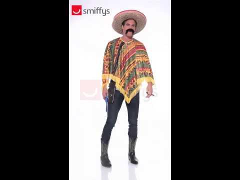 Déguisement de Mexicain en poncho