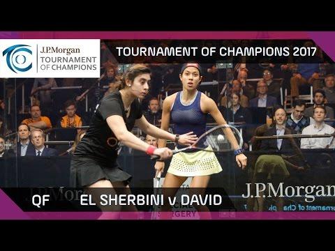 Squash: El Sherbini v David - Tournament of Champions 2017 QF Highlights