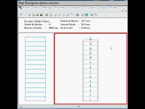 StairDesigner : how to build a straight flight with StairDesigner