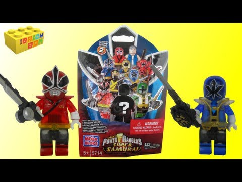 Mega Bloks - A review of the new Mega Bloks series 2 Power Rangers Super Samurai minifigure blind bags. This review covers 9 of a possible 10 with only the mystery ranger...
