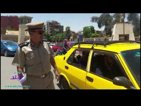 حملة مرورية ضبط 113 سيارة ملاكي تعمل بأجر و21 تاكسي خالف التعريفة بأسيوط