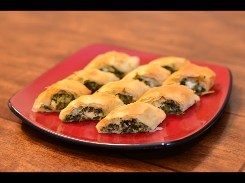 Spinach Phyllo Roll-Ups Recipe With Kraft Philadelphia Cream Cheese - Appetizers