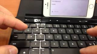 IOS9 사용시 블루투스 한영전환 방법문제 임시 해결.. I confirmed with MS universal mobile keyboard only.
