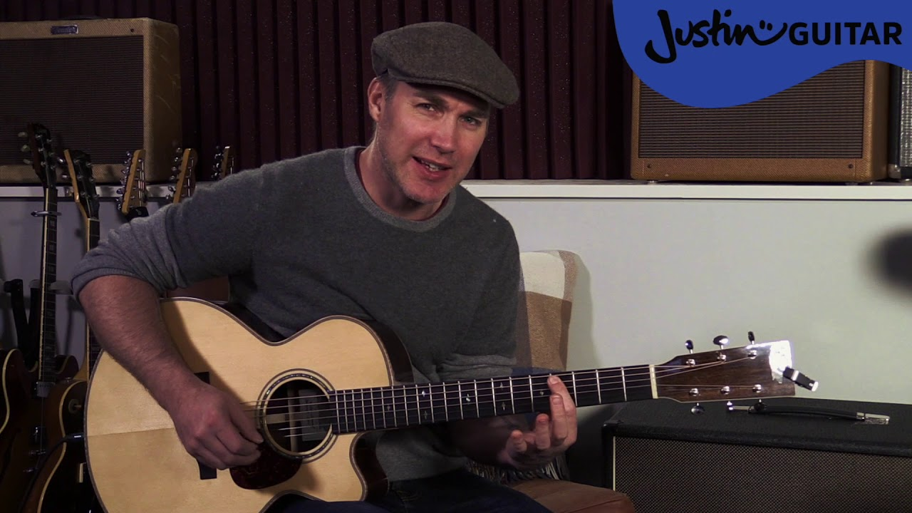 The Beatles While My Guitar Gently Weeps Guitar Lesson Justin Guitar Acoustic Tutorial