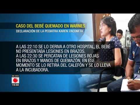 Declaración de la pediatra Karen Zaconeta por el caso bebé quemado