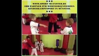 Partnerübungen bei den Lil' Dragons in der Kampfkunstschule Münster Alexander Thies