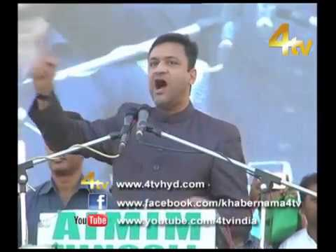 Akbaruddin Owaisi Addressing Jalsa at Hingoli (Maharashtra)