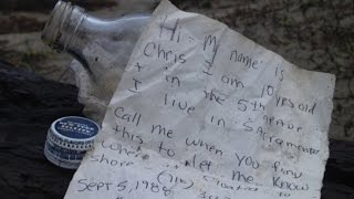 Download Youtube: 5-Year-Old Boy Discovers Message in a Bottle from 27 Years Ago