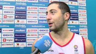 Postgame T. Kelati, G.Tsintsadze GEO-POL EuroBasket 2013