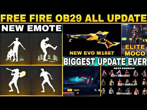 Free fire new emote    free fire ob29 update new emote / free fire new evo gun / xm8 evo ability