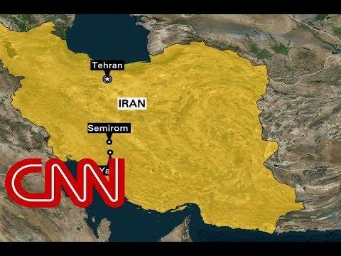 Plane crashes in Iran with dozens on board (видео)