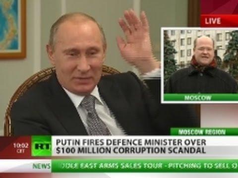 Putin sacks Defense Minister over $100 mln corruption scandal