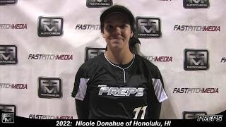 2022 Nicole Donahue Catcher and Third Base Softball Skills Video - Easton Preps