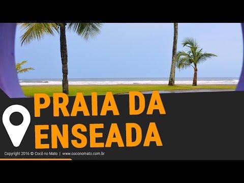 Praia da Enseada em Bertioga SP (Drone - HD)