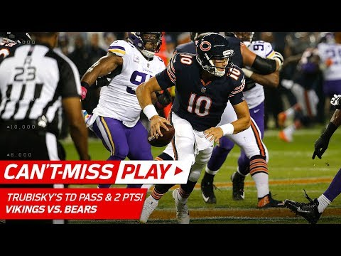 Video: Trubisky's Crazy 1st TD & Tricky Two-Point Conversion  