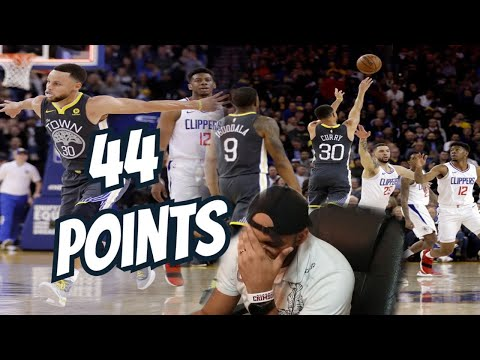 Steph Curry 44 Points | Golden State Warriors vs Los Angeles Clippers NBA Game Highlights