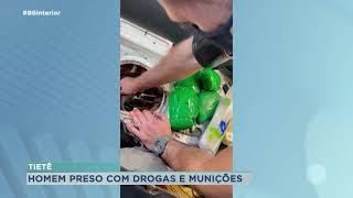 Homem é preso com cocaína e munições em Tietê