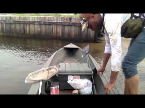 Cedric Watson pirogue fishing at Cypremort Point, Louisiana/ Oct. 2013