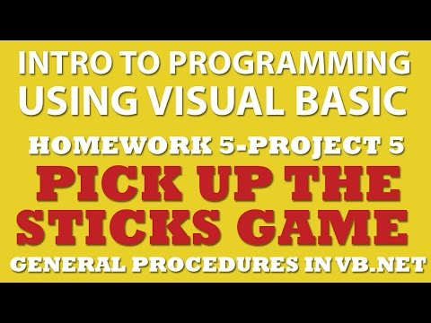 Visual Basic: Pick Up Sticks Game (5-pp5) (Functions, Sub, Mod, Switch Statements)