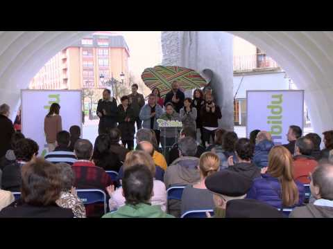 Presentación de la candidatura de EH Bildu Gasteiz
