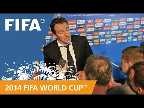 Belgium's Marc WILMOTS Final Draw reaction (French)