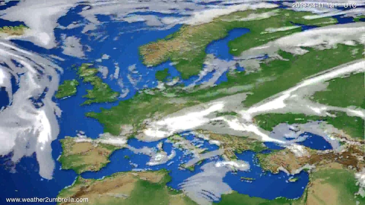 Cloud forecast Europe // modelrun: 00h UTC 2019-04-09