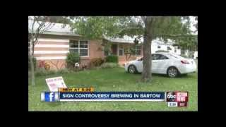 Bartow United States  city photos : Controversy over 'God Bless America' signs being banned in Bartow