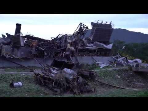 浸水と工場の爆発事故に見舞われた被害甚大 総社市下原 報道少なく住民に不安