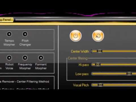 How to make Acapellas using Music Morpher Gold