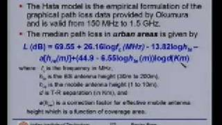 Lecture 12 - Mobile Radio Propagation Contd