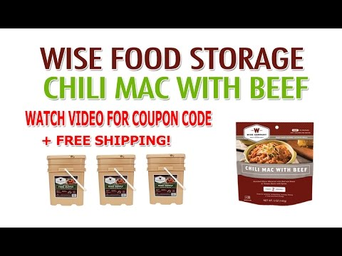 Wise Food Storage Review & Coupon – Wise Company Chili Mac With Beef