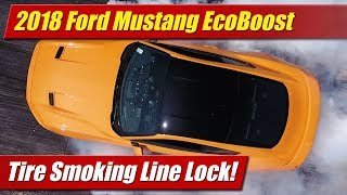 See the new tire smoking 2018 Mustang EcoBoost now standard with line lock feature, smoking tire animation on digital instrument cluster and oh yeah....more horsepower!Auto news with a reality check! New car, truck, SUV and crossover test drives, reviews and news posted daily!Subscribe: http://www.youtube.com/TestDrivenTVWebsite: http://www.TestDriven.TVFacebook: http://www.facebook.com/TestdriventvTwitter: http://www.twitter.com/testdriventvGoogle: http://www.google.com/+TestDrivenTV