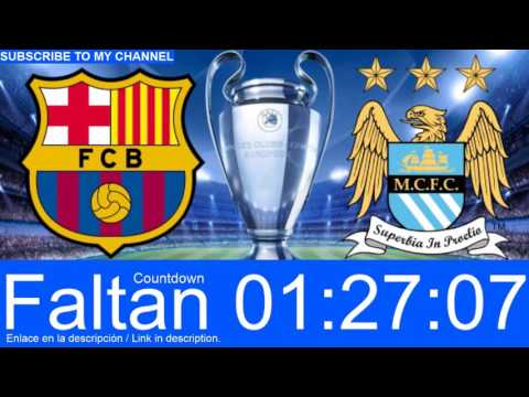Barcelona v Manchester City LIVE STREAM #CountdownClock