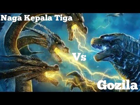 Gozila Vs Naga kepala Tiga