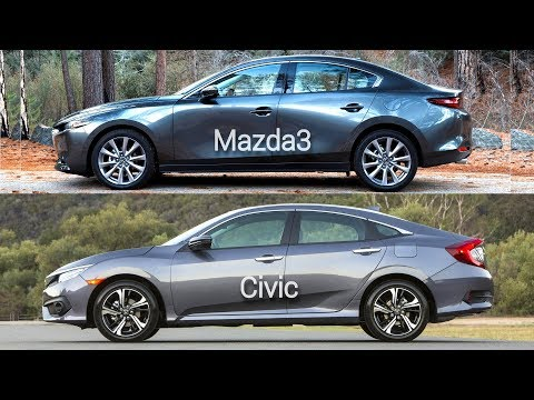 2019 Mazda3 Sedan vs Honda Civic Sedan