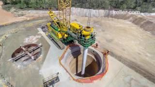 Large Diameter Shaft Drilling Timelapse