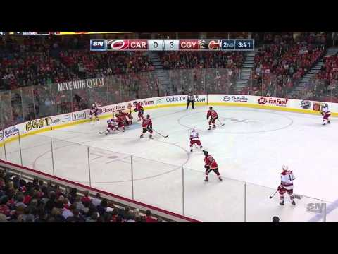 Carolina Hurricanes vs  Calgary Flames 23.10.2014.